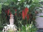 Lush gardens inside entry